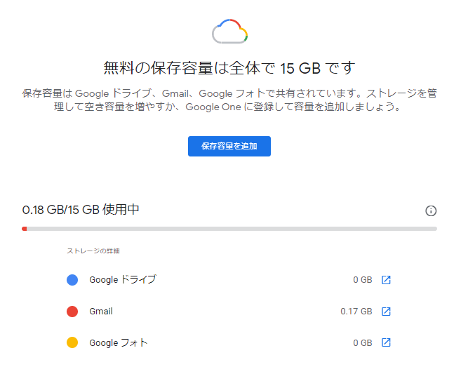 Googleフォト容量調べる